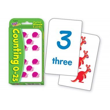 Counting 0 To 25 Flash Cards
