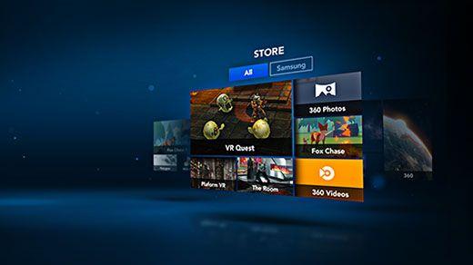 Samsung Gear VR Menu and User Interface