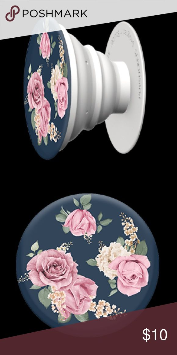 "Vintage Perfume PopSocket ❤️❤️ Add a single PopSocket, or a pair of PopSockets, to the back of almost any mobile device to transform its capabilities. PopSockets ""pop"" whenever you need a grip, a stand, an earbud-management system, or just something to play with. This super cute PopSocket features a navy background with pink roses giving it a vintage look. Limited Quantities! PopSocket Accessories Phone Cases"
