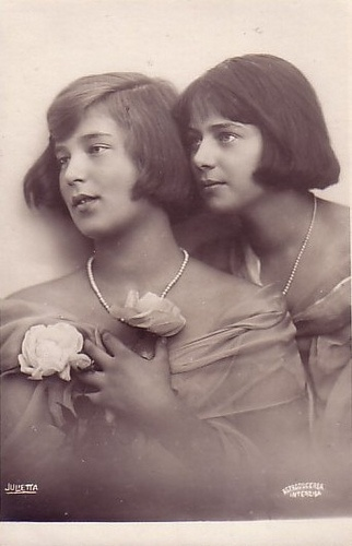 Princess Ileana of Roumania and Princess Kira Kirilovna (later created Grand Duchess by her father after the Revolution) of Russia.  Their mothers were sisters:  Marie (queen of Romania) and Victoria Melita (Grand Duchess of Russia) of Saxe Coburg Gotha, granddaughters of Queen Victoria.