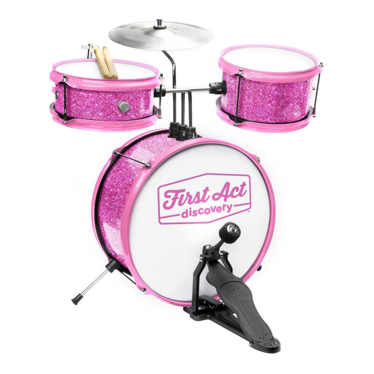 First Act Discovery - Drum Set & Seat - Pink Sparkle