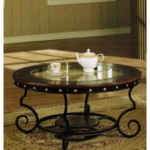 Chesterfield Sofa Coffee Table with Nail Head Trim in Two Tone Finish review thomasville furniture