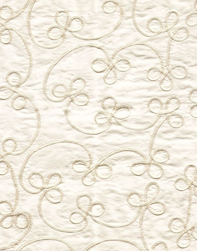 Fabric, Patterned, Silk, Dupion, Embroidered, Russian Braid, 4348