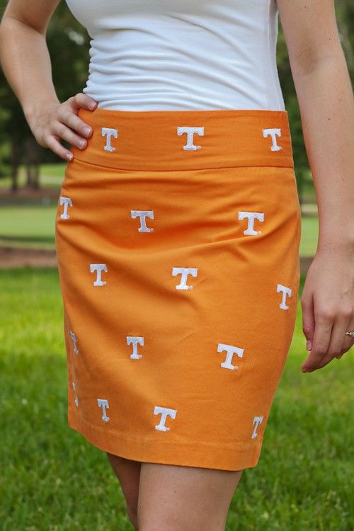 For all my TN friends: Tennessee Orange Stadium Skirt | Pennington and Bailes.  They have lots of other schools too