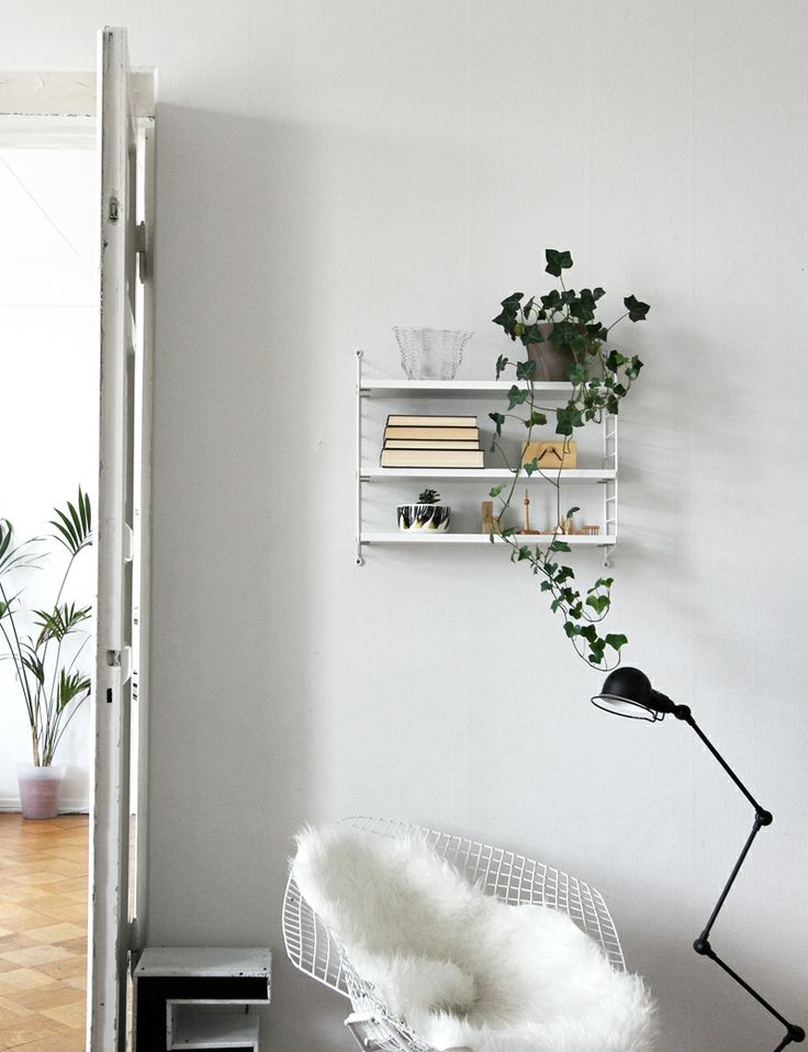 string pocket shelf via raw design blog walls pinterest design ladder and coming home. Black Bedroom Furniture Sets. Home Design Ideas