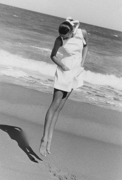 Veruschka Jumping on the Beach - January 1968