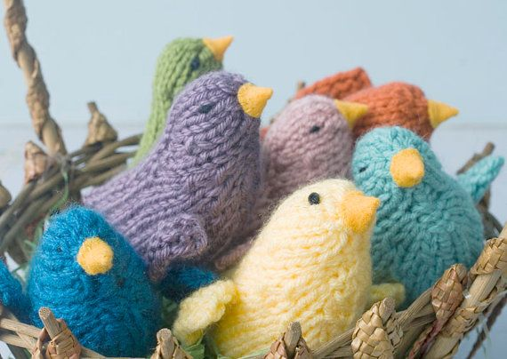 Knit Softie Bird Toy  Easter Decoration Color of by beadedwire 12.00: Baby Chick, Stuffed Toys, Nurseries Decor, Knits Softies, Birds Toys, Waldorf Toys, Chic Home, Knits Birds, Baby Toys
