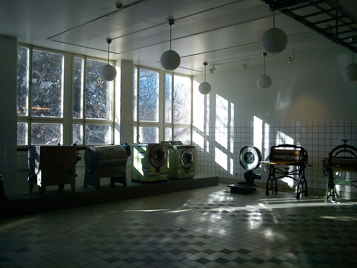 In a laundrette // The art organization and exhibition space Konsthall C is situated in an communal laundry room at Cigarrvägen in Hökarängen, one of the early suburbs of Stockholm.