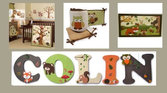 Lambs and Ivy Echo Letters -Personalized 10 Childrens Letters to Match the ECHO Nursery Set