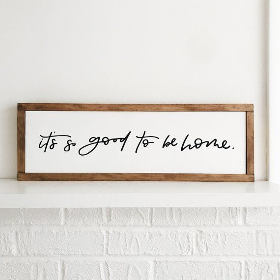 Good To Be Home Sign | Home Sweet Home | Custom Wooden Sign | Newlywed Gift | Wedding Gift
