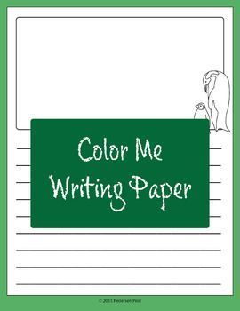 This collection of writing paper is perfect for those special writing projects or to include in your writing center to help inspire your students.This collection includes vertical and horizontal writing paper with black outlined images, drawing window, an