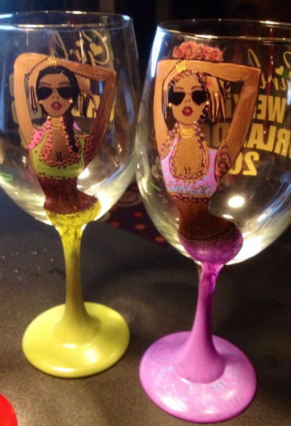 62 best Hand Painted Wine Glasses images on Pinterest