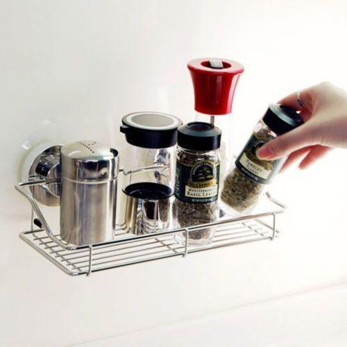 [DeHUB Super Suction-Silver] Wire Rack 250mm Shelf Innovative Rack Kitchen/Bath