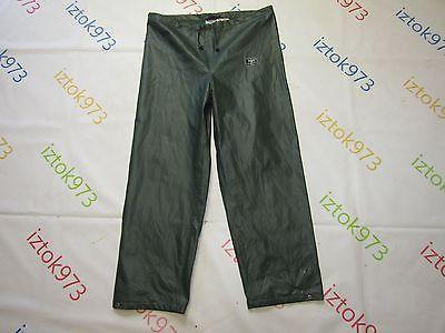 Helly Hansen Men's BOOT-LOC PVC Laminated Fisherman Raincoat Proof Pants sz S