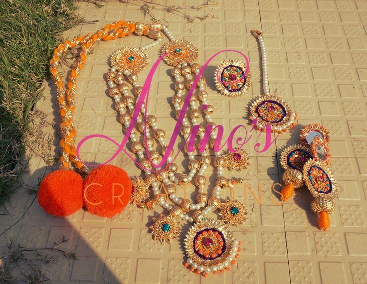 #HAR #earrings #tika #ring by https://www.facebook.com/Ninos-creations-123853704344831/