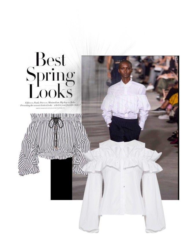 """""""The new blouse"""" by roseleendsouza on Polyvore featuring H&M, Caroline Constas and Viva Aviva"""