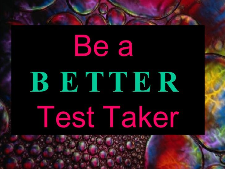 slideshow on test taking strategies