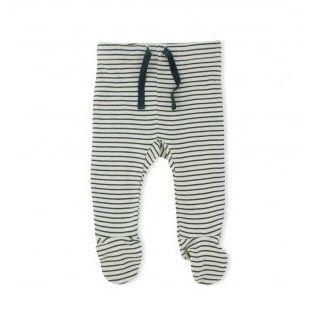 WILSON & FRENCHY NAVY STRIPE LEGGINGS WITH FEET - $24.95 - 100% cotton navy stripe rib legging with feet and soft elastic waistband. #sweetcreations #baby #boy #designer #fashion #wilson&frenchy