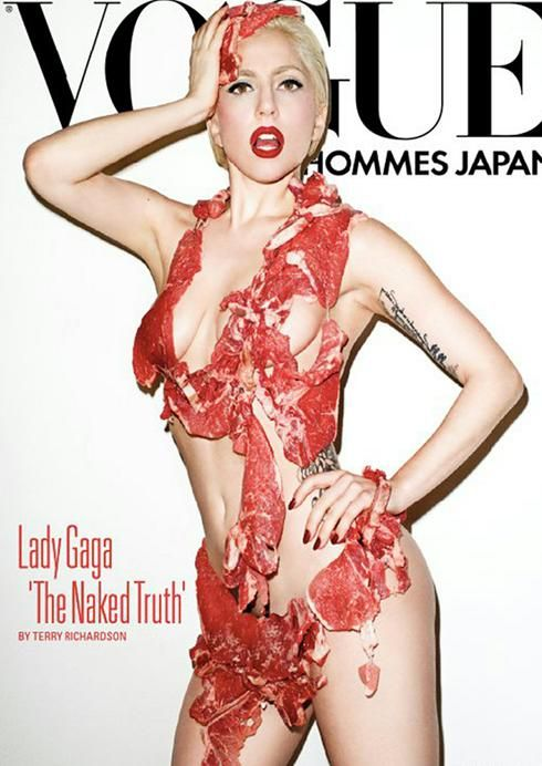 Lady Gaga's meat dress... fashion, art, or food?