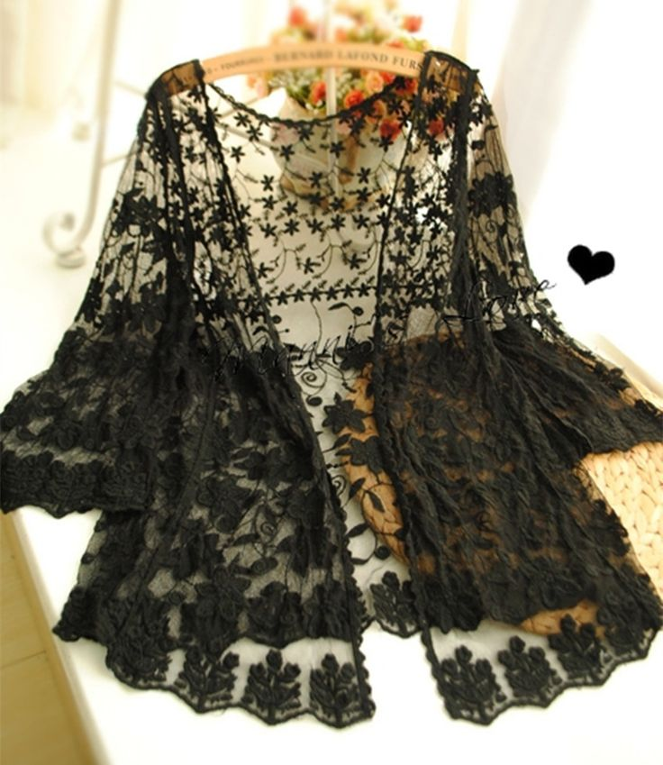 2017 summer spring Women Lace Crochet Flower Loose Solid Color Pullover Top embroidery half sleeve lace cardigan black