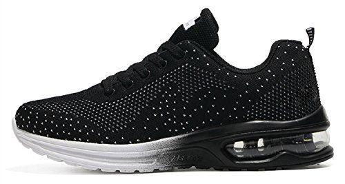 Mixte Adulte Chaussures de Multisports OutdoorChaussures de Course Sports  Fitness Gym athlétique Baskets Sneakers(EU 42Noir) cf83b6956da