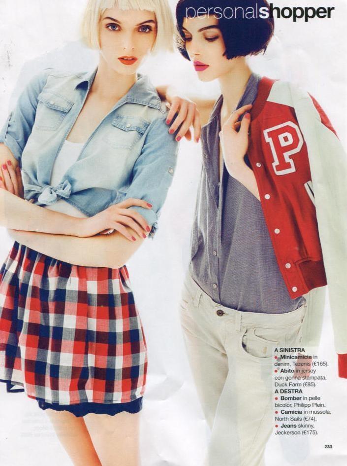 Mini camicia in denim on Glamour - June 2012