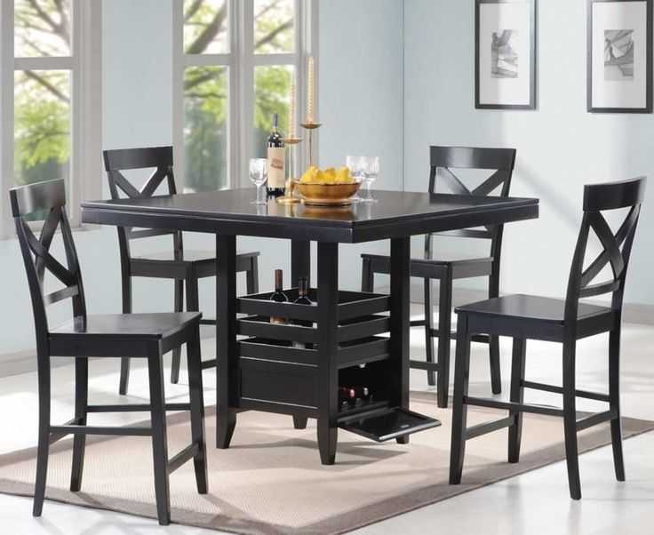 Dining Room, Dining Room Piece Black Dining Room Set Best Compositions  Black Dining Room Set