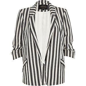 Veste femme raye noir et blanc