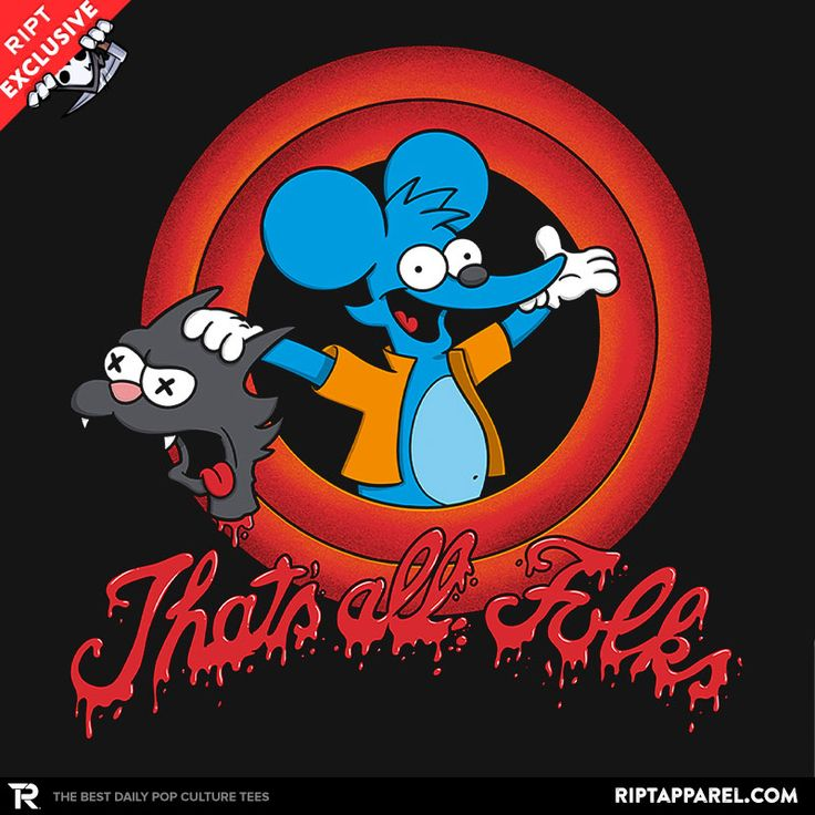 That's All Folks T-Shirt - Simpsons T-Shirt is $11 today at Ript!