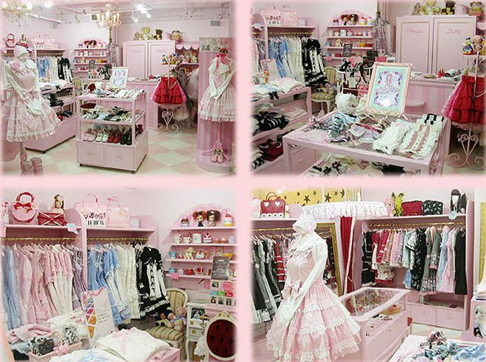 Lolita theme room above are several shots of the main store in harajuku tokyo what for Fashion designer themed bedroom