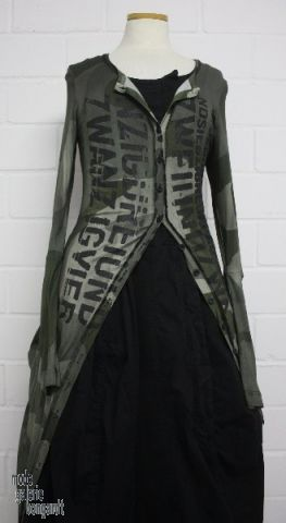 "www.modegalerie-bongardt.de - rundholz mode, rundholz black label, Rundholz DIP Rundholz DIP winter 2014, long camouflage shirt-jacket ""prin..."