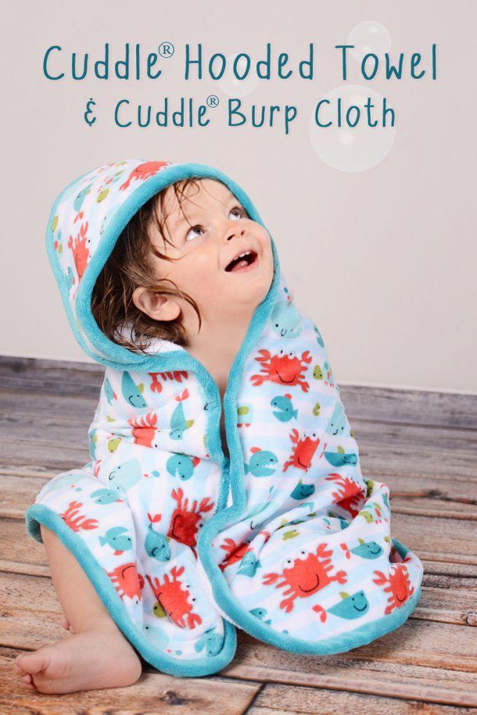 Free sewing pattern! Cuddle Hooded Bath Towel and Cuddle Burp Cloth Free Sewing Pattern