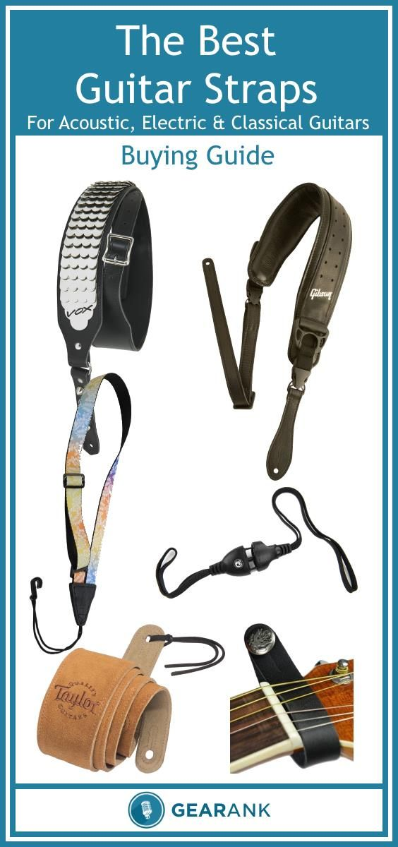Detailed guide to The Best Guitar Straps for all types of guitars, including those that have just one or no strap buttons.