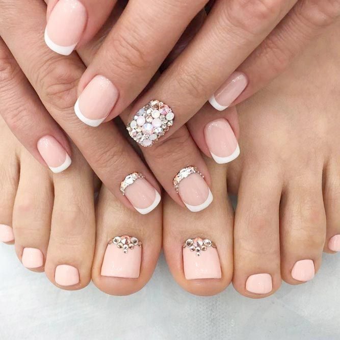 Learn How To Do Manicure and Pedicure In No Time ❤ Elegant Nude Manicure and Pedicure picture 3 ❤ We suggest to learn how to achieve that perfect look at home. What is more, we are more than willing to share with you the trendies shades to inspire from this season! Pick the one that suits you best! https://naildesignsjournal.com/manicure-and-pedicure-ideas/  #nails #nailart #naildesign  #toenails
