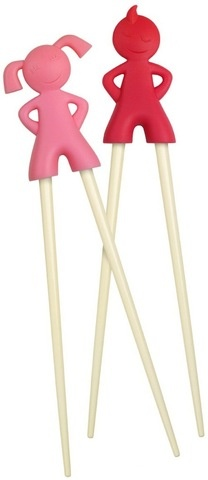 the kids used these at a sushi restaurant recently...we must get some!  Way better than the other kid's chopsticks we've used and bought in the past as they don't break where the two sticks are joined.