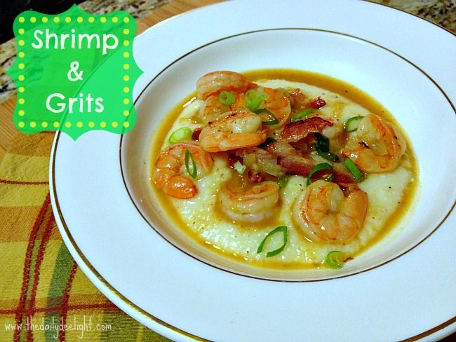 Shrimp & Cheddar Grits ~ I have never had grits before but this looks ...