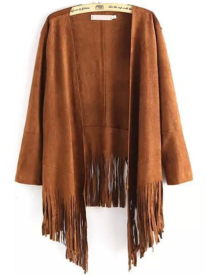 Shop Khaki Long Sleeve Tassel Loose Coat online. SheIn offers Khaki Long Sleeve Tassel Loose Coat & more to fit your fashionable needs.