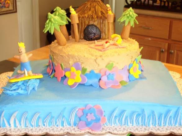 Luau party ideas hawaiian cake ideas luau pinterest for Adult cake decoration