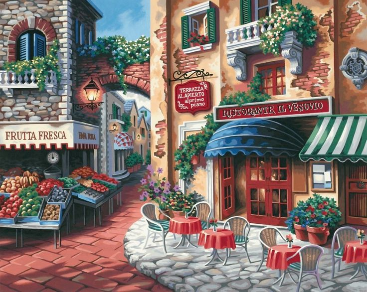 Amazon.com - Dimensions Needlecrafts Paintworks Paint By Number, Taste Of Italy - Childrens Paint By Number Kits