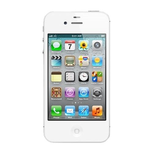 Unlocked Apple - Refurbished iPhone 4S with 16GB Memory Cell Phone - White
