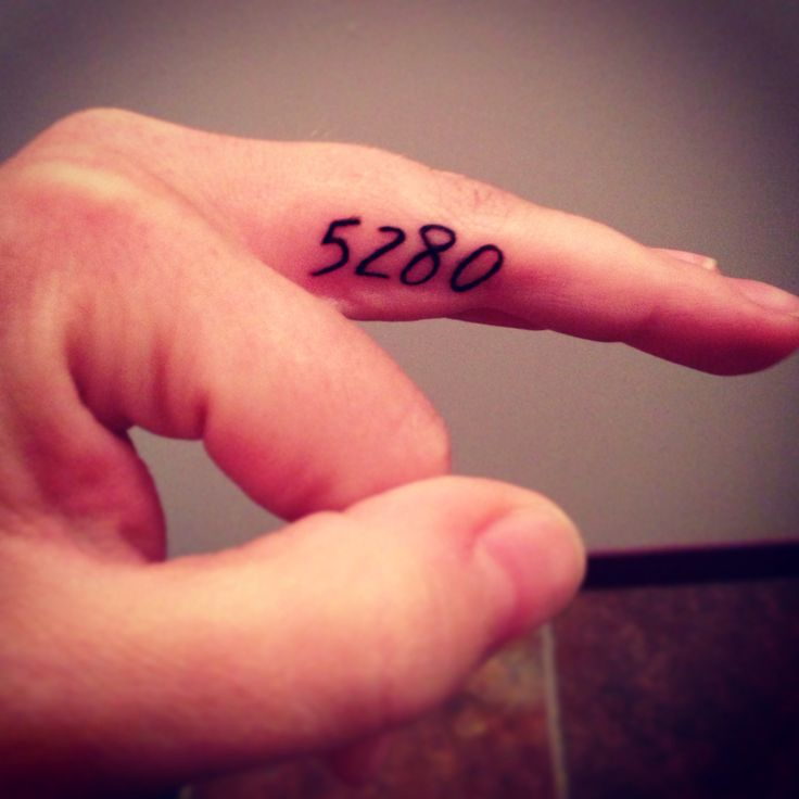 Denver Finger Tattoo. Colorado tattoo. Mile high city. 5280