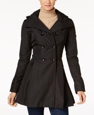 Calvin Klein Skirted Hooded Raincoat - Black XXL #RaincoatsForWomenTrench #RaincoatsForWomenClothing