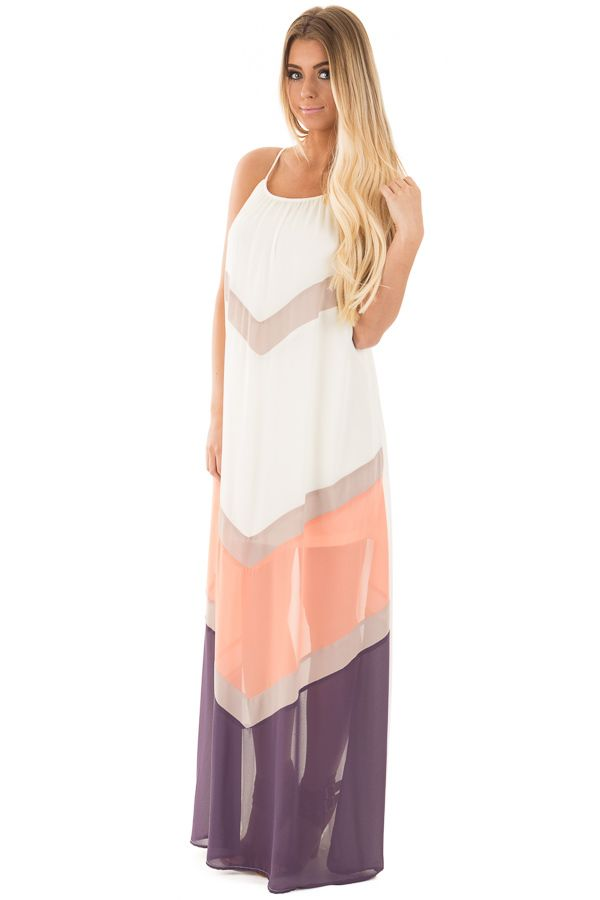 Lime Lush Boutique - Cream and Coral Chevron Color Block Maxi Dress, $42.99 (https://www.limelush.com/cream-and-coral-chevron-color-block-maxi-dress/)#fashion#spring#happy#photooftheday#followme#follow#cute#tagforlikes#beautiful#girl#like#selfie#picoftheday#summer#fun#smile#friends#like4like#pinterestfollowers