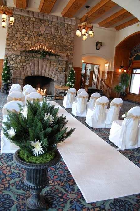 Fireplace Wedding; Chateau Lake Louise · Small Wedding DecorVery ...