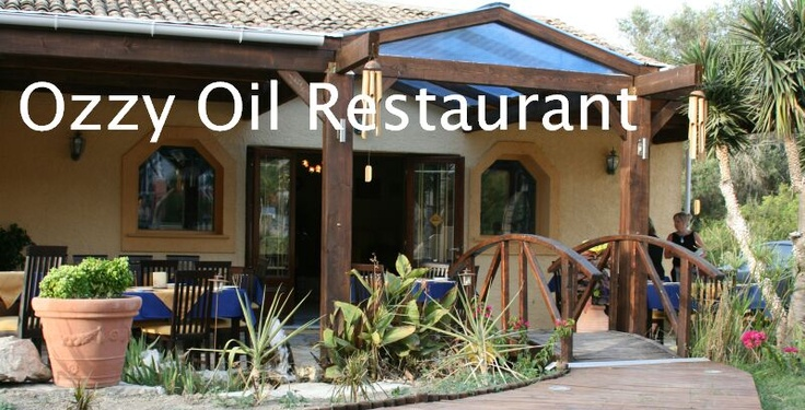 Ozzy Oil Restaurant, Agios Stefanos, Corfu - Greek and Australian Cuisine- Now if you are looking for that something special and tasty you can eat from their Al A carte or there once a week barbie menu, go and see Kerry and Nikos you will not be disappointed and after your starters and main if you still have room try the white chocolate cheesecake, its to die for...........