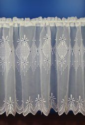 Charlotte White Embroidered Voile Cafe Net Curtains – cafe style