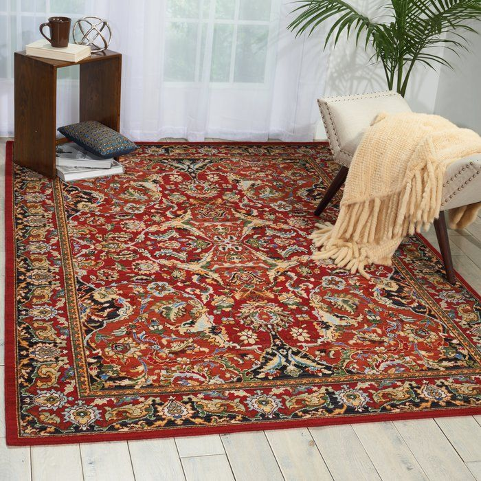 Charleson Wool Red Area Rug