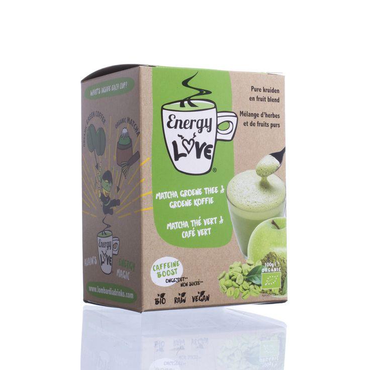 EnergyLove | Energiedrank op basis van Matcha, groene koffie en appelsap.