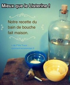 Vous cherchez une alternative naturelle au bain de bouche Listerine ? Heureusement, il existe une recette très simple pour faire un bain de bouche antiseptique 100% naturel et tout aussi efficace. Découvrez l'astuce ici : http://www.comment-economiser.fr/mieux-que-listerine-la-recette-bain-bouche-naturel.html?utm_content=buffer06d88&utm_medium=social&utm_source=pinterest.com&utm_campaign=buffer