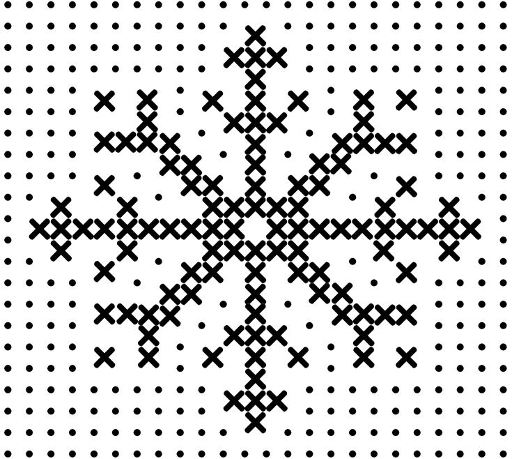 Cross stitch snowflake